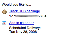 GMail adds delivery date guessing from UPS tracking numbers