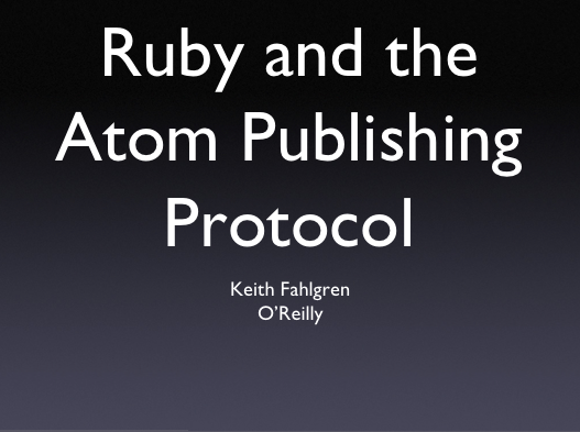Thumbnail of my Ruby APP talk
